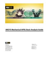 ANSYS Mechanical APDL Basic Analysis Guide