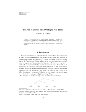 Fourier Analysis and Phylogenetic Trees