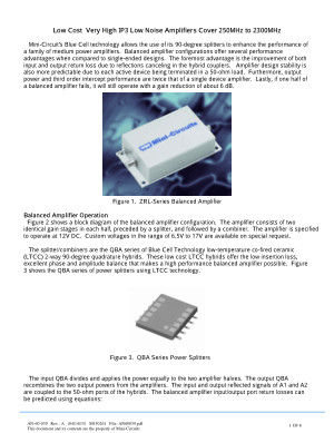 Low Cost Very High IP3 Low Noise Amplifiers Cover 250MHz to 2300MHz