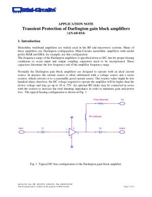 Transient Protection Of Darlington Gain Block Amplifiers