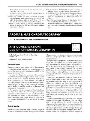 ART CONSERVATION USE OF CHROMATOGRAPHY IN