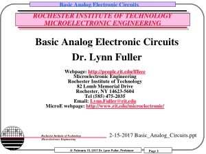 Basic Analog Circuits Tech Books Yard