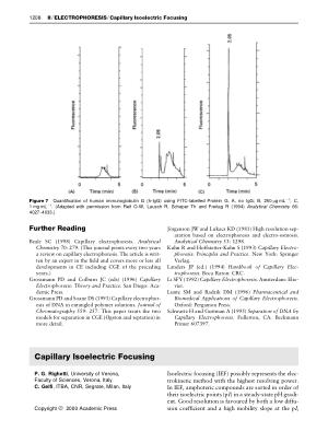 Capillary Isoelectric Focusing