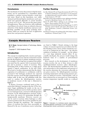 Catalytic Membrane Reactors