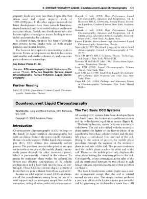 Countercurrent Liquid Chromatography