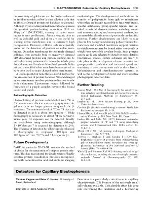 Detectors for Capillary Electrophoresis