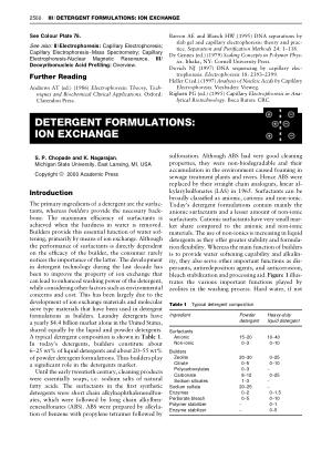DETERGENT FORMULATIONS ION EXCHANGE