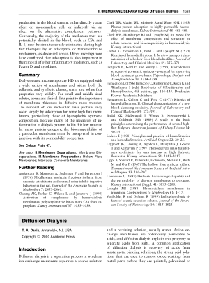 Diffusion Dialysis