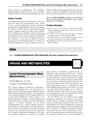 DRUGS AND METABOLITES Liquid Chromatography Mass Spectrome