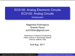 EC5135 Analog Electronic Circuits EC3102 Analog Circuits