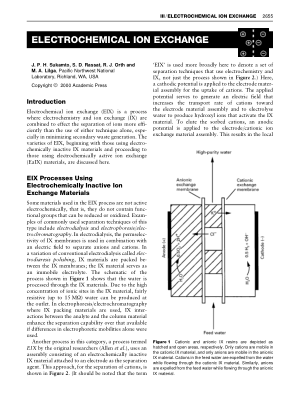 ELECTROCHEMICAL ION EXCHANGE