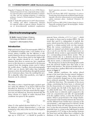 Electrochromatography