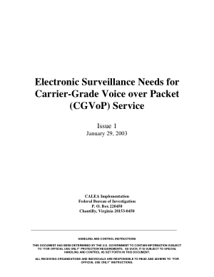 Electronic Surveillance Needs for Carrier Grade Voice Over Packet Service