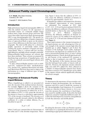 Enhanced Fluidity Liquid Chromatography