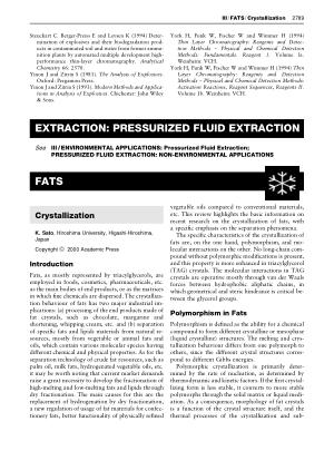 FATS Crystallization
