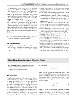Field Flow Fractionation Electric Fields