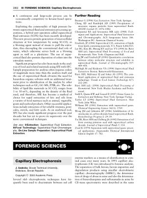 FORENSIC SCIENCES Capillary Electrophoresis