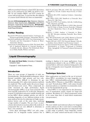 FUNGICIDES Liquid Chromatography
