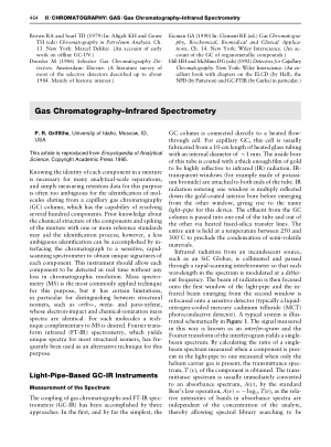 Gas Chromatography Infrared Spectrometry