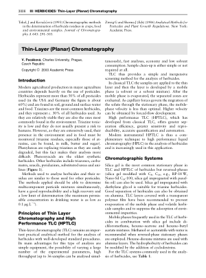 HERBICIDES Thin Layer (Planar) Chromatography