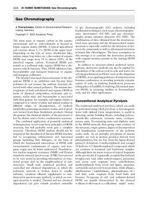 HUMIC SUBSTANCES Gas Chromatography