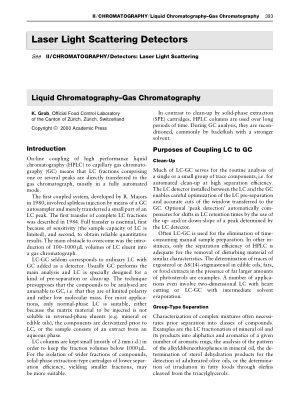 Liquid Chromatography Gas Chromatography