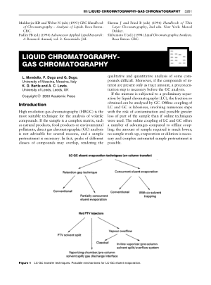 LIQUID CHROMATOGRAPHY GAS CHROMATOGRAPHY