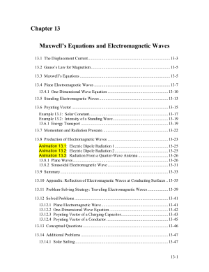 Maxwells Equations and Electromagnetic Waves