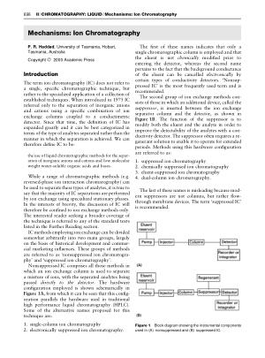 Mechanisms Ion Chromatography
