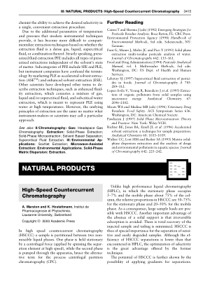 NATURAL PRODUCTS High Speed Countercurrent Chromatography
