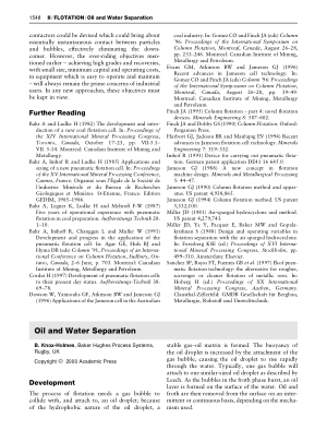 Oil and Water Separation