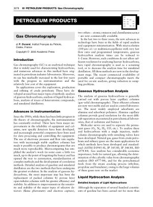 PETROLEUM PRODUCTS Gas Chromatography