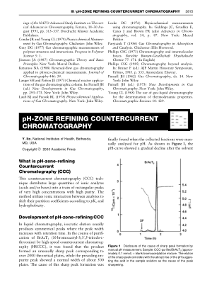 pH ZONE REFINING COUNTERCURRENT CHROMATOGRAPHY