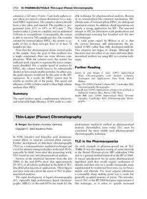 PHARMACEUTICALS Thin Layer (Planar) Chromatography