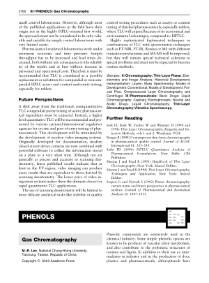 PHENOLS Gas Chromatography