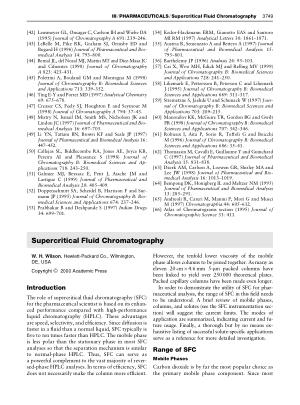 PHARMACEUTICALS Supercritical Fluid Chromatography