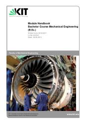 Module Handbook Bachelor Course Mechanical Engineering