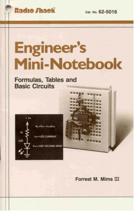Radio Shack Engineers Mini Notebook Formulas Tables and Basic Circuits