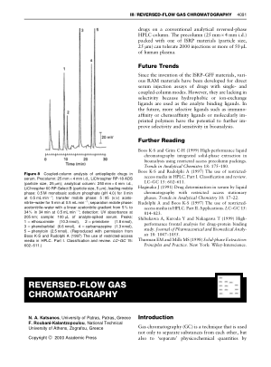 REVERSED FLOW GAS CHROMATOGRAPHY