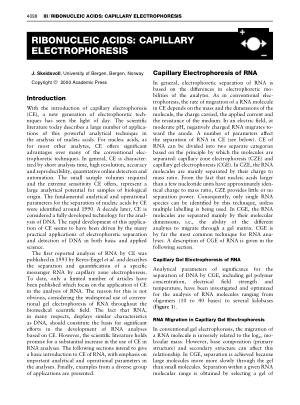 RIBONUCLEIC ACIDS CAPILLARY ELECTROPHORESIS