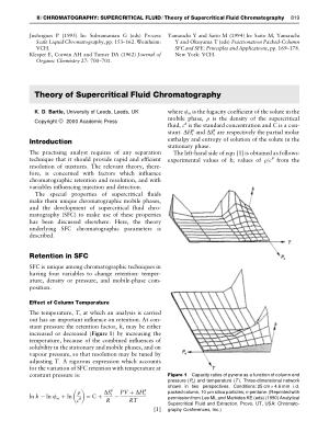 Theory of Supercritical Fluid Chromatography
