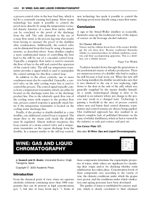 WINE GAS AND LIQUID CHROMATOGRAPHY