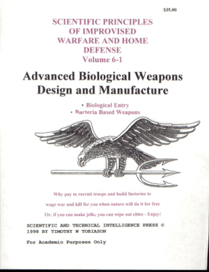 Advanced Bio Weapons Design and Manufacture (Bacteria)