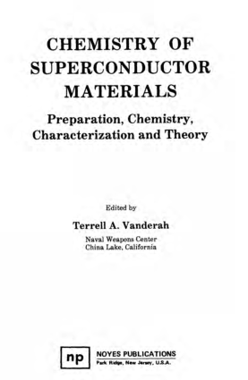Chemistry Of Superconductor Materials