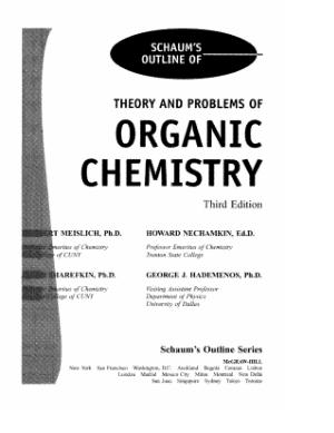 Organic Chemistry (Schaum)