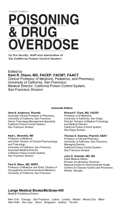 Poisoning and Drug Overdose (4th Edition)