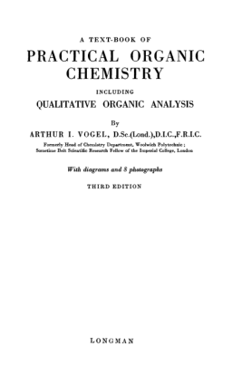 Practical Organic Chemistry (Vogel)
