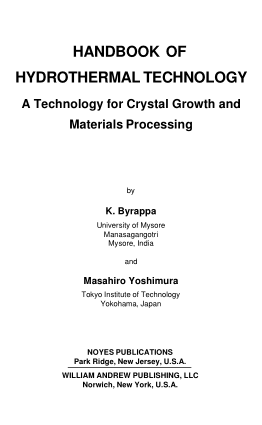 Technology of Hydrothermal Crystal Growth