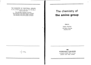 The Chemistry of the Amino Group (Patai 1968)
