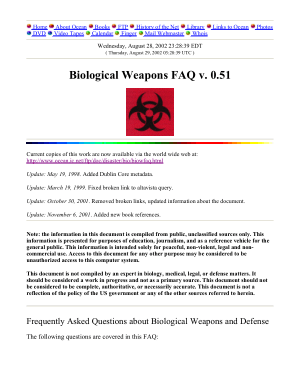Biological Warfare FAQ